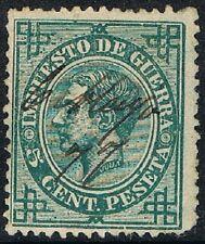 España 1876, Impuesto de Guerra, 5 cent., matasellado (c)