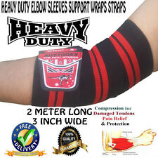 HEAVY DUTY ELBOW SLEEVES SUPPORT WRAPS STRAPS BODYBUILDING/Weight lifting STRAPS