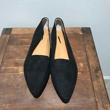 J.crew Edie Suede Black loafers Flats Size 9.5 Color black New has a mark on