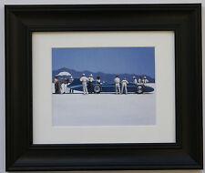 Bluebird at Bonneville by Jack Vettriano incorniciato & MOUNT ART PRINT CORNICE NERA
