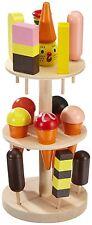 Kinder Eisständer aus Schichtholz Perfekte Ergänzung für Kaufläden & Küchen NEU