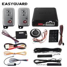 Pke car alarm keyless smart key remote start touch keypad security push starter