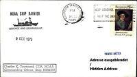 NOAA Ship Rainer Commanding Officer Schiffspost USA Stamp Benjamin West 1975