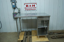48 X 30 Stainless Steel Cabinet Work Prep Table Desk 4