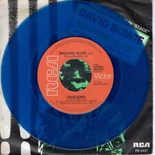 7inch DAVID BOWIE breaking glass HOLLAND 1978 BLUE VINYL (S0861)