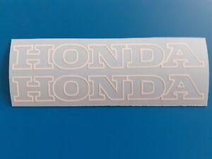 -Honda Motorrad Sticker Aufkleber in Weiß 2x 290x50mm+++Beklebungsanleitung