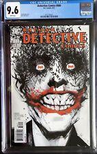 DC Comics Detective Comics #880 CGC 9.6 Classic Joker Cover by Jock (Batman)