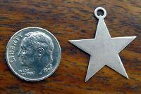 Vintage silver STAR CHRISTMAS PENDANT BRACELET charm