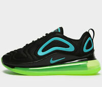 Nike Air Max 720 GS ® (UK Sizes: 4 / 4.5 / 5 / 5.5 / 6) Black / Oracle Aqua NEW