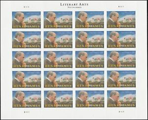 US 5105 Literary Arts Henry James three ounce sheet (20 stamps) MNH 2016