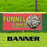 Funnel Cake Lawn Food Fair Concession Stand Advertising Vinyl Banner Signs