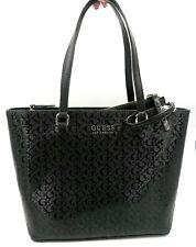 GUESS Roman Shoulder Bag Tote Shopper Purse Black + Purse