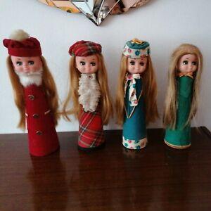 4 Vintage Teenage Dolls 1950s 1960s Dressing Table Perfume Cuff Holders.