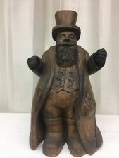 Antique Hand Carved Wooden Ringmaster Statue (dr15)