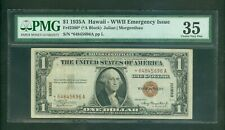 """1935-A $1 SCARCE HAWAII """"WWII"""" SILVER CERTIFICATE STAR NOTE BEAUTY PMG CHVF 35"""
