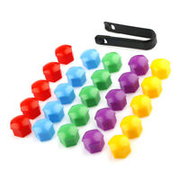 20x Colorful Wheel Nut Caps Bolt Covers For Audi VW Vauxhall Bmw Mercedes 19mm