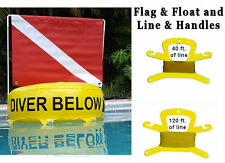 Scuba Dive Diving Flag & Float Inflatable bouy buoy diver Tube Red White Safety