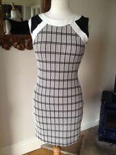 Zara Women's Round Neck Checked Dresses