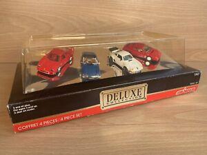 Vintage Retro Majorette Deluxe Collection - 4 Car Set - Ferrari, Porsche Boxed!