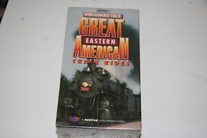 VHS VIDEO 2 TAPE SET TITLED:  GREAT EASTERN AMERICAN TRAIN RIDES V 1&2  NEW