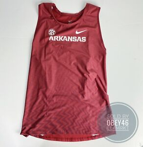 ARKANSAS Razorbacks Nike Track & Field Running Team Issue Singlet Mens Size XXL