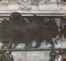 The Lion - Statue of the Republic, Paris, France, Magic Lantern Glass Slide