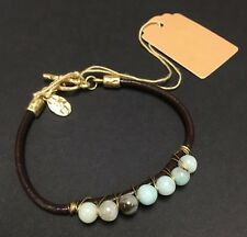 Vintage Style Leather Bracelet With Beads - NWT