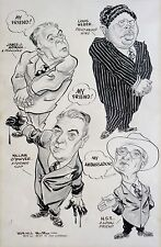 1951 WILLARD MULLIN political scandal NYC original CARTOON Truman WEBER O'Dwyer