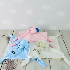 Personalised Baby Comforter Animal Themed Baby Shower Gift Snuggle Buddy