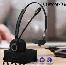 Bluetooth Headset Noise Cancelling For Trucker Driver Skype Call Center Office