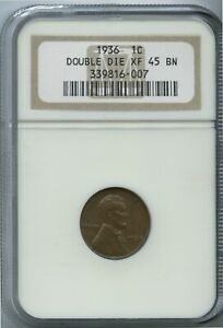 1936 DDO Lincoln Cent Super Rare NGC XF 45 Low Pop of 1 Coin!  Only 1 Higher !