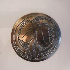 Médaille ronde métal cuivre bronze vintage design gravure art nouveau France