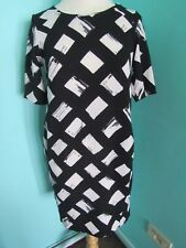 BLACK & WHITE SIZE 8 PETITE DRESS SHORT SLEEVE THE PETITE COLLECTION DEBENHAMS