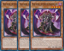 3X Duke Shade, the Sinister Shadow Lord -SR06-EN003- -Common- Lair of Darkness