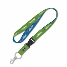 Seattle Sounders FC Lanyard With Detachable Keychain 1 by 24 Inches Licensed NWT