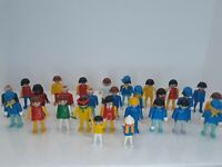 Lot of 28 Playmobil Figures 1974 Geobra & Others- Multicolored Mixed Lot