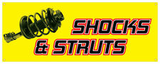 Shocks & Struts Banner Car Truck Repair Fix Tire Wheel Retail Store Sign 36x96
