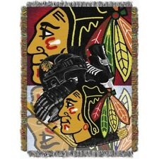 New NHL Chicago Blackhawk woven tapestry throw blanket Home Ice Advantage Indian