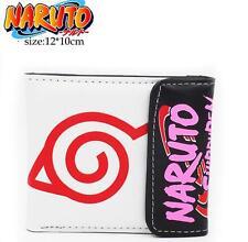 New Anime NARUTO Uchiha Sasuke Short Leather Wallet Purse Cool Gift HDTR