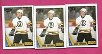 3 X 1987-88 OPC # 24 BRUINS MIKE THELVIN ROOKIE  NRMT + (INV# C2052)