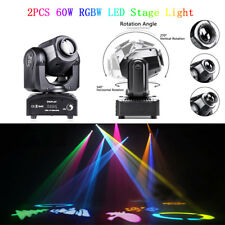 2PCS 60W RGBW Bühnenlicht LED Beam Moving Head Gobos DMX512 Party DJ Beleuchtung