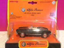 NEWRAY SUPERBE ALFA ROMEO GIULIETTA SPIDER 1600C 1962 SOUS BLISTER 1/43 K1