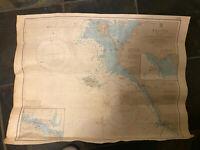Vintage 1989 Colour Admiralty Chart 2647 France West Coast