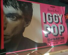 """Iggy Pop at Theatre Le Palace """"New Values"""" Tour 1979 Vintage French Poster"""