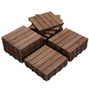 12x12'' Patio Pavers Tiles Interlocking Wood Flooring Deck Tiles Outdoor 27pcs