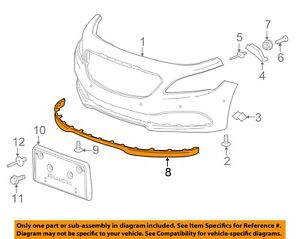 Buick GM OEM 17-18 LaCrosse Front Bumper Grille-Lower Deflector 90925672