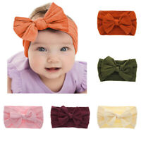 Baby Headband Toddler Knotted Bow Hair Accessories Girls Turban Nylon Kids Band