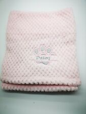 PERSONALISED DOG/PUPPY BLING GLITTER waffle BLANKET split paw EMBROIDERED
