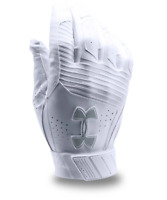 Under Armour Clean Up Baseball Batting Gloves, Adult Size XL, White B1