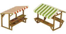 2 Market Stalls - OO/HO Card kit – Metcalfe PO530 - Free Post - L1